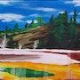 Paysage du Parc de Yellowstone. L'atelier d'alexandra