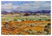 Le paysage d'une plaine d'ailleurs.