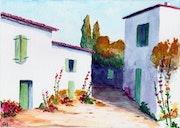 Une ruelle de l'île de Ré.
