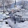 Sewen, village Alsacien sous la neige par une belle journée ensoleillée. Marcel Boos