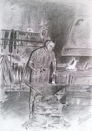 Le forgeron - maréchal-ferrant. Alain Devred