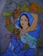 Peinture sous verre - Série Regard sur le Levant.