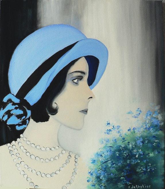 La dame au chapeau bleu. Françoise Deléglise Françoise Deléglise