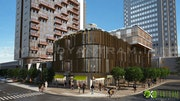 3D Architectural Commercial Exterior Rendering. Yantram Animation Studio
