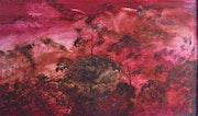 La forêt de Bornéo / Huile sur toile / 80 X 100 cm.
