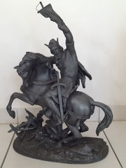 Vercingetorix scupture xxème siècle statue guerrier à cheval. Jean Novella