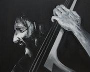 Portrait musicien de jazz.