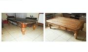 Imposante table basse avec tiroir. La Boîte à Bois