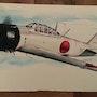 Mitsubishi zero. Forangeart F. Baldinotti Peintre De l'air