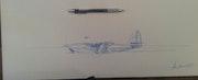 Hughes h-4 Hercules. Forangeart F. Baldinotti Peintre De l'air