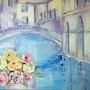 Roses à Venise. Françoise Deléglise