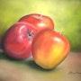 Trois pommes. Jacqueline Hautbout