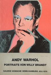 Andy Warhol: Original Ausstellungsplakat Willy Brandt, 1976, signiert!.