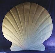 Saint Jacques shell contemporary sculpture.