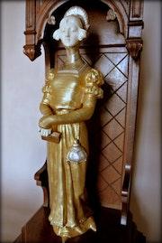 Statuette néogothique. Marc Menzoyan Antiquités