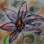 Lys asiatique. Ghislaine Phelut