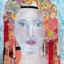 La femme aux couleurs. Michèle G