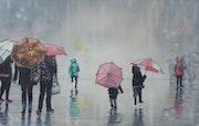 Jeux sous la pluie.