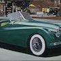 Jaguar xk120 à Londres.