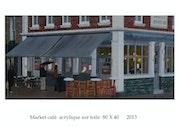 Market café à Londre dans le quartier «Broadway market.