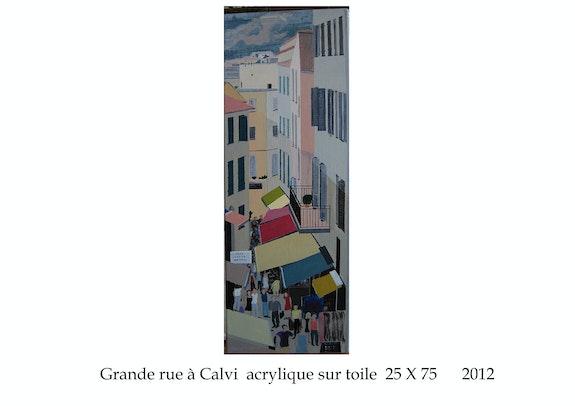 Grande rue à Calvi en corse du nord. Cesar Luciano Cesar Luciano
