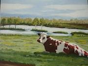 Petite vache normande.