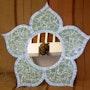 Miroir Fleur orientale. Maryline Van Poucke