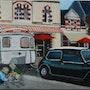 Austin mini et sa caravane à piriac.
