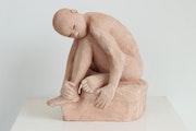 Sculpture en terre cuite..