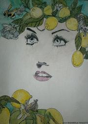 Lemon color.