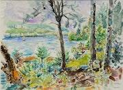 Lac des laurentides. Canada..