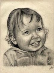 Emma, portrait au graphite.