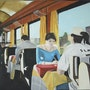 Dans le train. Cesar Luciano