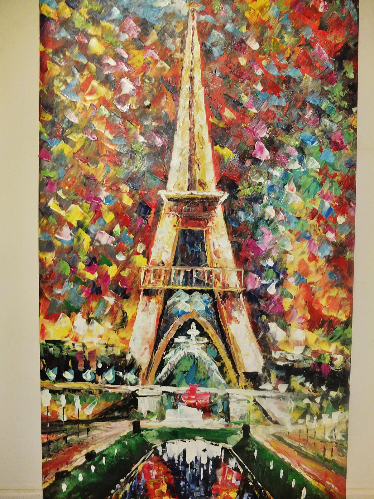 Peintures, Tableau peinture à l'huile Tour Eiffel, Page 1472, Art Moderne et Contemporain