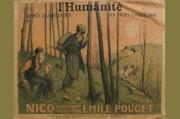 Grande affiche originale pour le journal «l'Humanité».