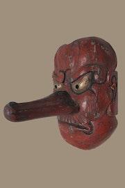 Masque décoratif japonais démon de Tengu. Rue France