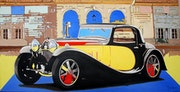 Bugatti 55 au chateau.