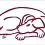 Dog _Red (Hund-Rot) - limitierte Original Grafik - Jacqueline_Ditt. Universal Arts Galerie Studio Gmbh