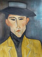 Portrait d'un homme au chapeau José Pacheco. Mimi