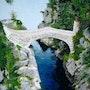 Le pont du diable en Ardèche. Colette Trôme