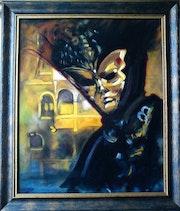 Masque vénitien » La Turquoise». Colette Trôme