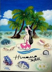 Vahiné bord de plage Tahiti.