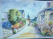 Village en France.