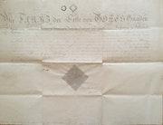 Große Urkunde für Graf Heinrich von Hardegg, mit Signatur Kaiser Franz i, 1811.