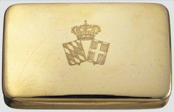 Silbervergoldete Dose des Prinzen Konrad von Bayern, Enkel der Kaiserin Elisabeth.  Thomas Kern