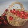 Pot de fraises et les bouteilles. Marie Robin