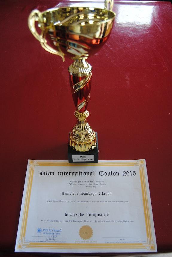 Salon international de Toulon 2015. Pour Claude Sauvage. Claude Sauvage