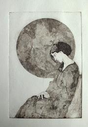 Frau in Geometrie. Frank Hegemann