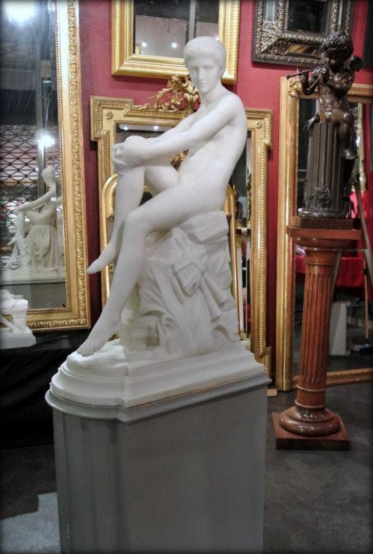 Chloé à la fontaine. Anatole Marquet De Vasselot Marc Menzoyan Antiquités