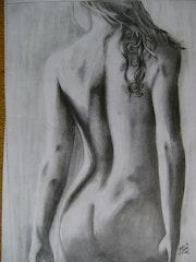 Desnudo de una mujer, realismo. Mauricio Paredes